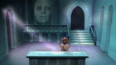 The Oracle of Confusion, as seen in Series 3 of Knightmare (1989).
