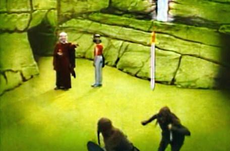 Knightmare Series 3 Team 12. Hordriss sends a magic sword towards the goblins.