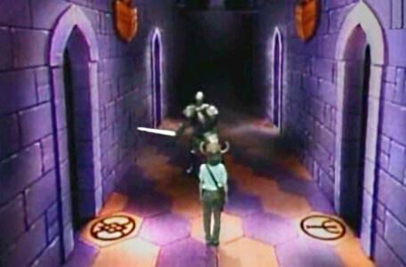 Knightmare Series 3 Team 9. The behemoth attacks in the Corridor of the Catacombs.