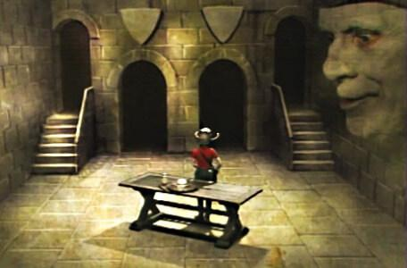 Knightmare Series 3 Team 4. Mogdred looks on in the Level 3 clue room.