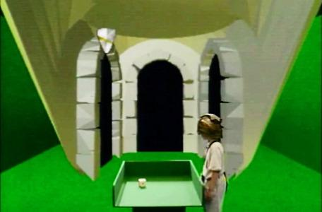 Series 3 Team 5. James rolls the dice in the first room of the dungeon.