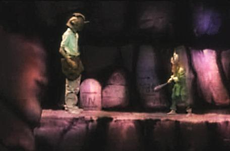 Knightmare Series 3 Team 6. The team use magic to make Ross large and frighten Olaf.