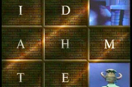 Knightmare Series 3 Team 6. The view of the wellway is covered by an anagram puzzle.
