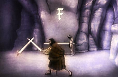 Knightmare Series 3 Team 6. McGrew fights off a magic sword in Death Valley.