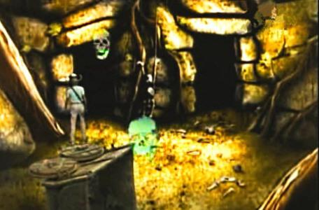 Knightmare Series 3 Team 6. Ross is chased by several skulls in the Skeleton Room.