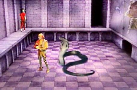 Knightmare Series 3 Team 8. Douglas abandons Motley to a snake attack.