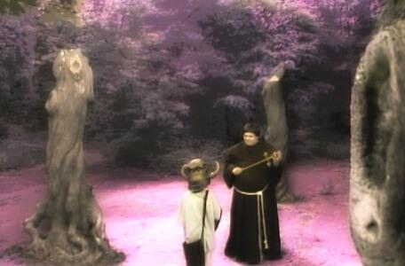 Knightmare Series 4 Quest 2. Alistair meets Brother Mace in a clearing.