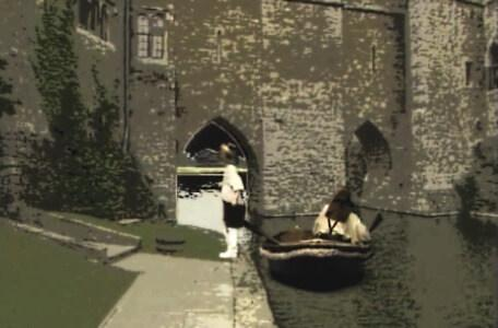Knightmare Series 4 Quest 2. Alistair gets out the boat at the other side of the Dunswater.