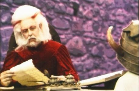 Knightmare Series 4 Quest 2. Hordriss the Confuser reads from a list.