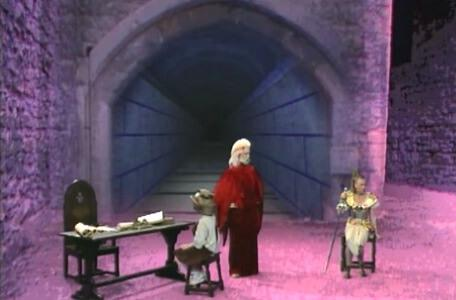 Knightmare Series 4 Quest 2. Hordriss gives out spells to the dungeoneer and Gundrada.