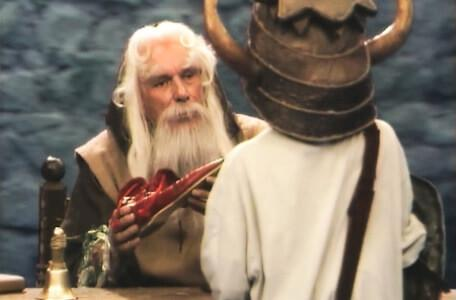 Knightmare Series 4 Quest 2. Merlin offers a range of items for sale.