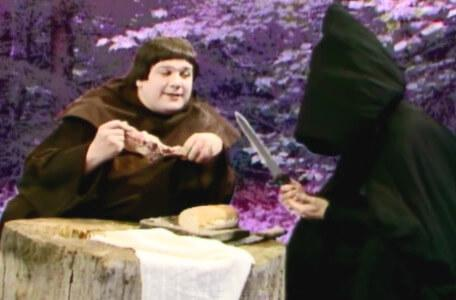 Knightmare Series 4 Quest 3. Brother Mace is dining with an assassin.