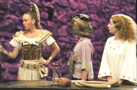 Knightmare Series 4 Quest 3. Nikki stands with Gundrada and Mellisandre.