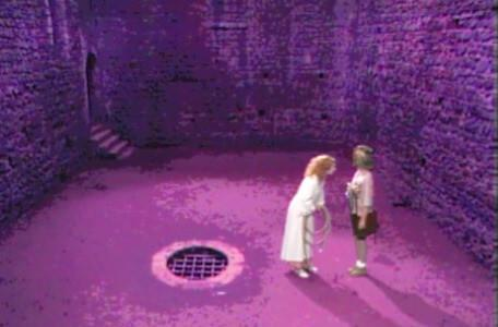 Knightmare Series 4 Quest 3. Mellisandre takes the rope from Nikki.