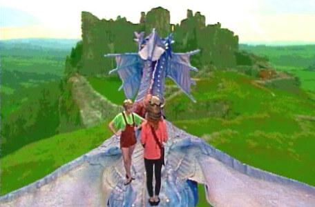 Knightmare Series 5 Team 3. Sarah meets Elita the Cavern Elf on Smirkenorff's back.