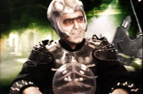 Knightmare Series 5 Team 3. Lord Fear smirks in the Level 1 spyglass sequence.