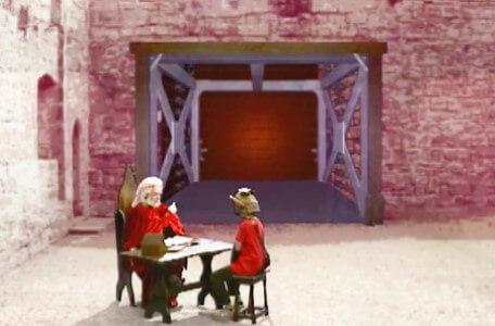 Knightmare Series 5 Team 4. Hordriss gives Ben instructions about the descender.