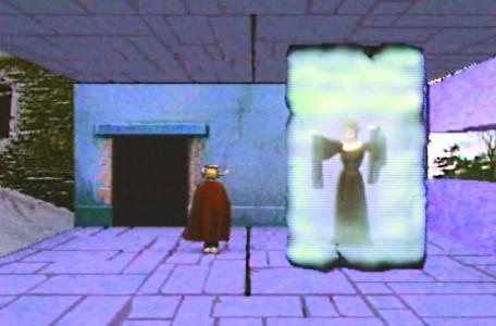 Knightmare Series 5 Team 4. Ben freezes Aesandre in a block of ice.
