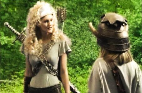 Knightmare Series 5 Team 9. A frustrated Gwendoline the Greenwarden questions Kelly.