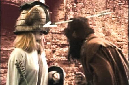 Knightmare Series 5 Team 9. Sly Hands has an arrow through his hat.