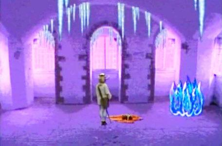 Knightmare Series 5 Team 9. Kelly finds a spyglass by Aesandre's blue fire.
