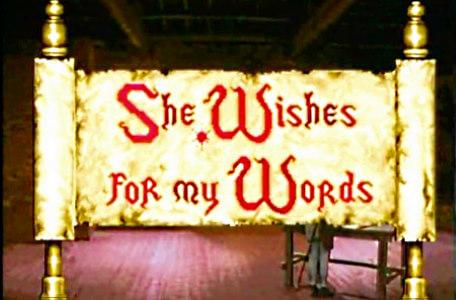 Knightmare Series 5 Team 9. A Level 2 scroll reads 'She wishes for my words'.