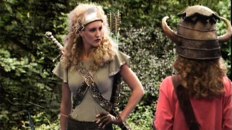 Series 5, Quest 3. Gwendoline the Greenwarden looks disapprovingly at dungeoneer, Sarah.
