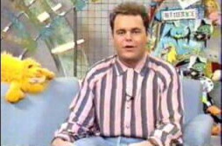 Children's ITV 1992: Glenn Kinsey in the studio.