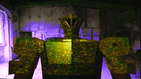 The Dreadnort, a metal monster from Series 6 of Knightmare (1992).