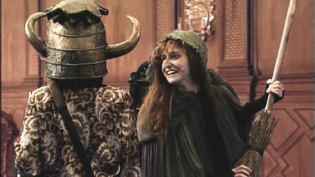 Heggatty the Witch, played by Stephanie Hesp in Series 6 of Knightmare (1992).