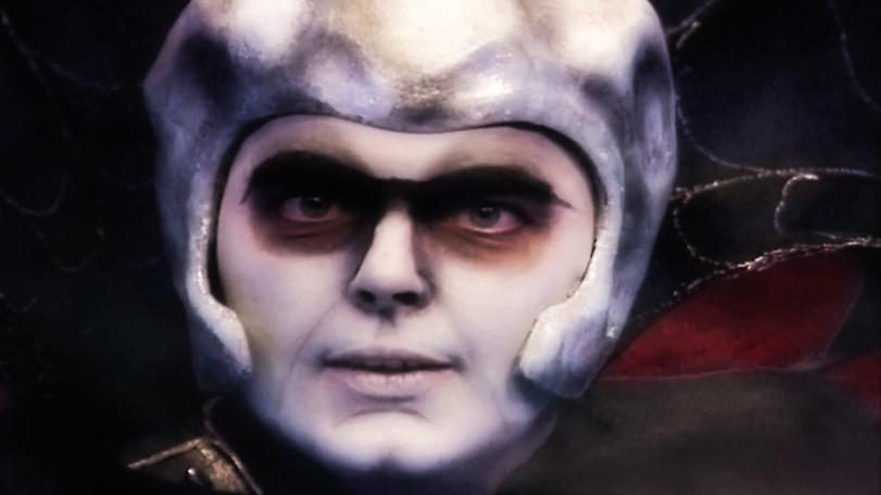 Close up of Lord Fear during his monologue at the end of Knightmare Series 6.