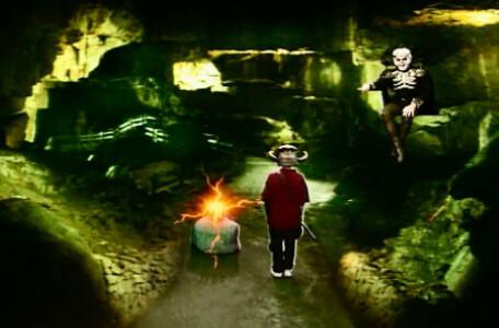 Knightmare Series 6 Team 5. Lord Fear shoots a fireball during the final encounter.