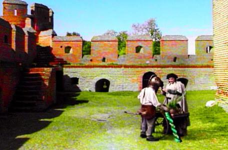 Knightmare Series 7 Team 7. Barry collects a piece of green staff from Rothberry's stall.