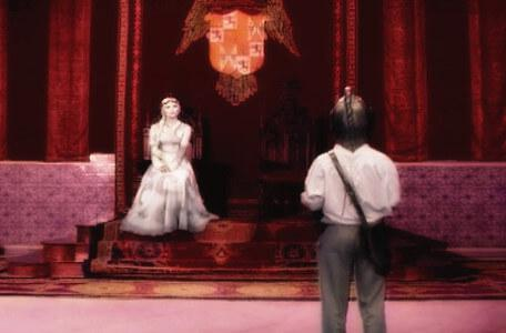 Knightmare Series 7 Team 7. Barry approaches Greystagg in her throne room.