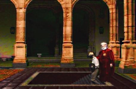 Knightmare Series 7 Team 7. Hordriss helps Barry down a hidden staircase to Level 3.