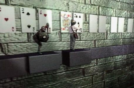 Knightmare Series 7 Team 7. A goblin pursues Barry along the card puzzle.