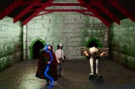 Knightmare Series 7 Team 7. Sylvester Hands drinks a potion and is frozen.