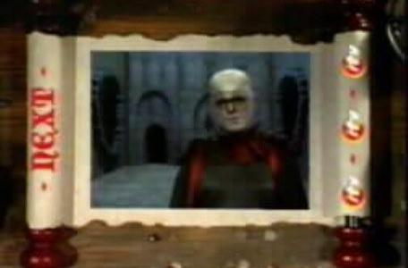 Children's ITV 1994: The 'Knightmare next' promo, featuring Lord Fear.