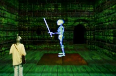 Knightmare Series 8 Team 4. Michael encounters the rogue skeletron in the Level 2 trapdoor room.