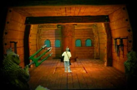 Knightmare Series 8 Team 6. Miremen approach Dunstan as he attempts to get through a trapdoor on the ship.