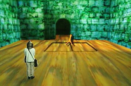 Knightmare Series 8 Team 7. Oliver uses a divining rod to reveal a hidden exit.