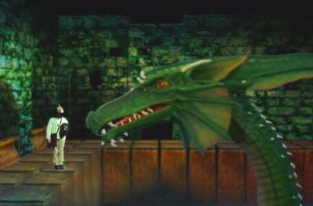 Knightmare Series 8 Team 7. Oliver charms Smirkenorff the Dragon.