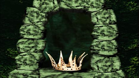 The Crown in the quest chamber in Marblehead during Knightmare Series 8 (1994).